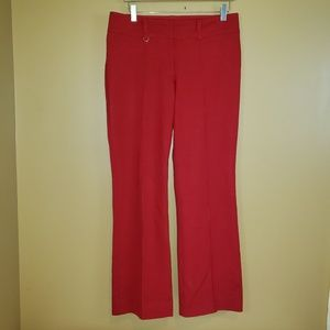 Cache red fully lined pants size 8